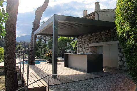 la cuisine d et cuisine d 39 été et deck piscine réalisation inside création
