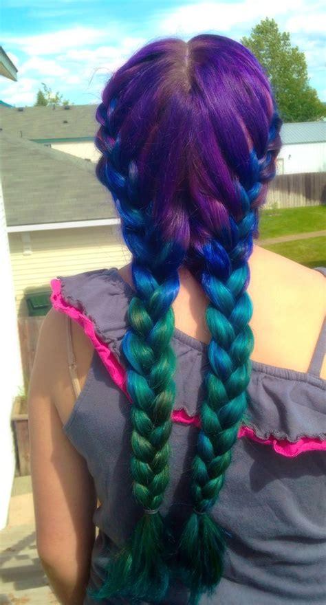 Mermaid Hair Ombre We Used Splat Hair Dyes In Berry