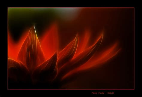 Flame Lotus Art