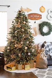 Sparkly French Country Christmas Tree - Domestically Speaking