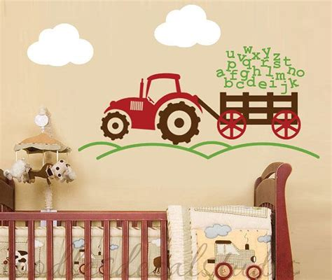 Truck Wallpaper Childrens Decor by Alphabet Tractor Farm Boys Abc Vinyl Wall Decal