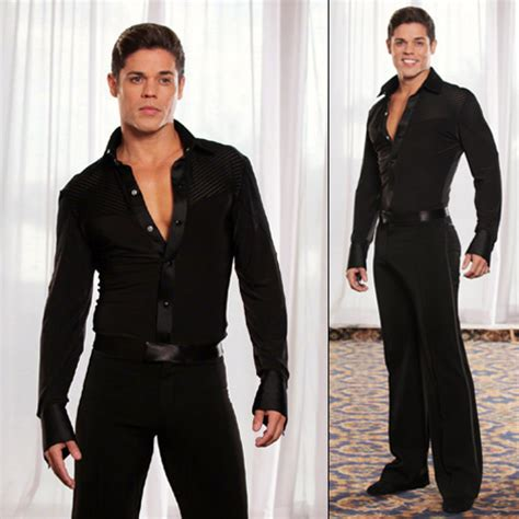 Collared Stripe Inset Shirt Mens shirts Mens clothes [MS19] - $179.00  Latin dance wear ...