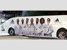 Real Madrid personalise team bus Real Madrid CF