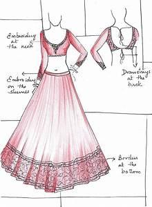 designer lehenga sketches - Google Search | Indian wear ...