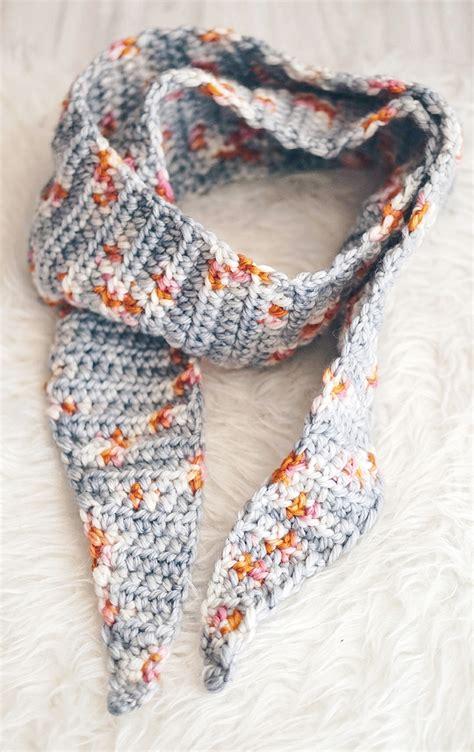 stylish  easy crochet scarf patterns dabbles babbles