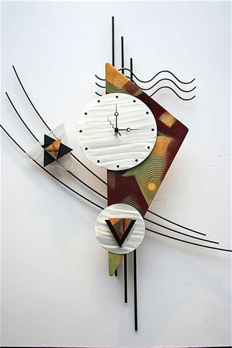 metal wall clock sculpture contemporary wall clocks other metro by creative metal works