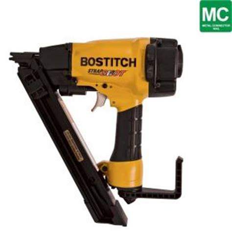 Bostitch Flooring Nailer Home Depot by Bostitch Strapshot Metal Connector Nailer Mcn150 The