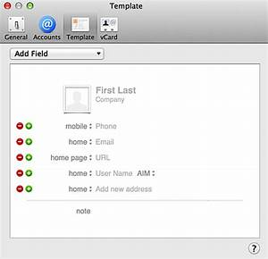 change default fields in mac contacts address book ask With address book template mac