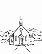 Church Coloring Lord Thanks Clip Drawing Christian Sunday Cartoon Printable Friends Tocolor sketch template
