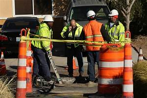 3 crashes reported after water main breaks near downtown ...