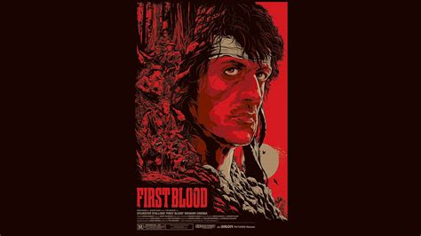 rambo  blood red sylvester stallone poster posters