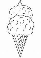 Ice Cream Coloring Printable Template Pages Cone Clipart Clip Sheets Printables Cones Templates Parlor Cliparts Sorvete Colorir Para Desenho Um sketch template