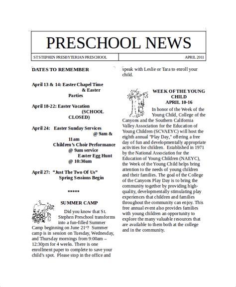 newsletter samples in word 10 examples in word pdf 667 | Preschool Newsletter Sample Word