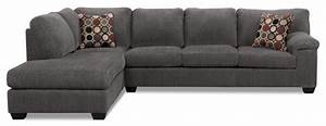 morty 2 piece chenille left facing sofa bed sectional With 2 piece grey sectional sofa