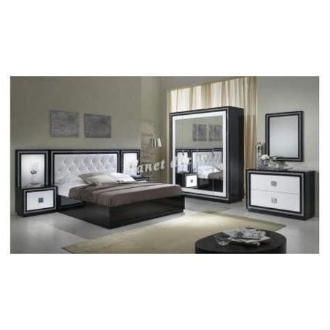chambre a coucher complete pas cher chambre à coucher complete model kristel noir blanc