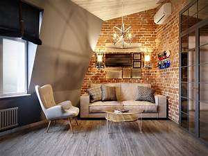 Old, Interior, Brick, Adds, Warmth, To, The, Holidays