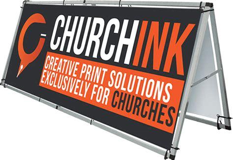 Churchinkcom Outdoor Church Banner Display Frame  8 Foot