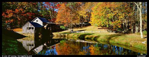 panoramic picturephoto mill  pond  autumn virginia