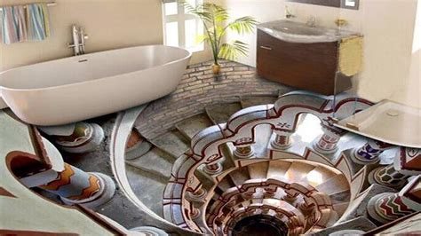 3D Bathroom Floor Designs That Will Mess With Your Mind ??