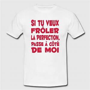 Tee Shirt Homme Humour : t shirt perfection parfait citation humour dr le spreadshirt ~ Melissatoandfro.com Idées de Décoration