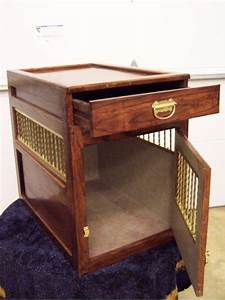 Dog crate home pinterest for Dog crate end table with drawer