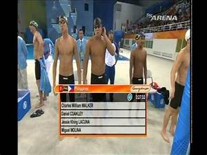 Asian Games 2010 Men's 100m freestyle relay - YouTube