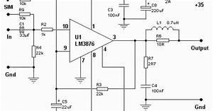50watt Audio Power Amplifier Circuit With Lm3876