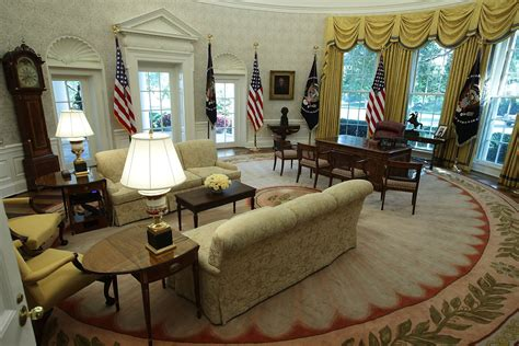obama in the office this is the thing donald changed in the oval