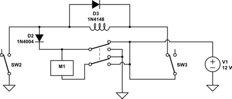 Switches Circuit For Motor With Microswitches