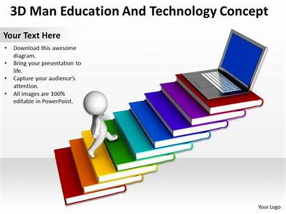 Ppt Education Technology 3d Graphics Icons Concept