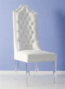 rhiannon white high back chair