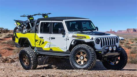 jeep flatbill pickup  ready  dirt bike adventures