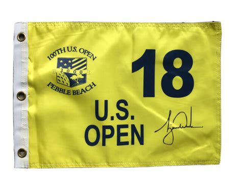 2000 Yellow US Open Pebble Beach Pin Flag w/ Tiger Woods ...