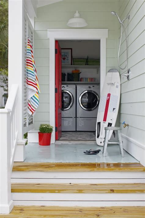 Red Door  Cottage  Laundry Room  Sherwin Williams