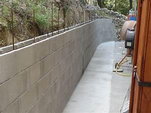 Fondation Mur Parpaing : construction mur de cl ture en parpaing d roul ~ Premium-room.com Idées de Décoration