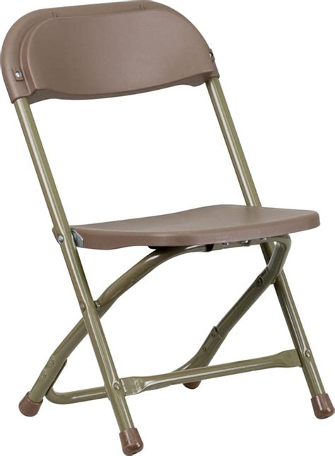 brown plastic folding chair out of stock