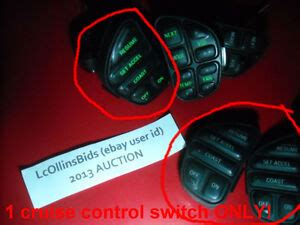 Lincoln Ford Mercury Left Hand Cruise Control Steering