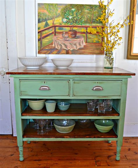 heir  space antique dresser turned kitchen island
