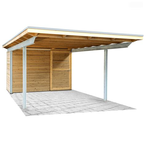 Stahlcarport Mit Holz  Kwp Caports