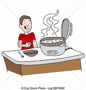 EPS Vectors of Rice Cooker An image of a man using a