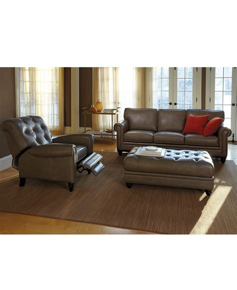 martha stewart collection bradyn leather sofa shops leather and furniture
