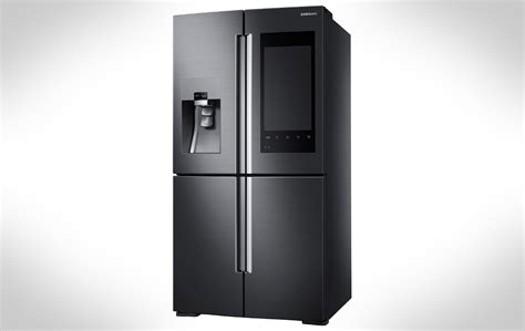 Glass Door Refrigerator Freezer For Home Samsung 39 S Latest Smart Fridge Has Cameras And A Huge Display