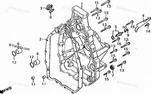Honda Motorcycle 1981 Oem Parts Diagram For Rear Engine