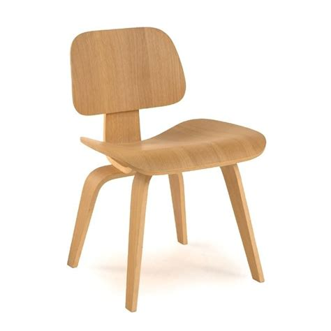 plywood modern classic dining chair with gently curved