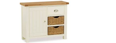 Sideboards With Baskets by Country Cottage Small Sideboard With Basket Fw Homestores
