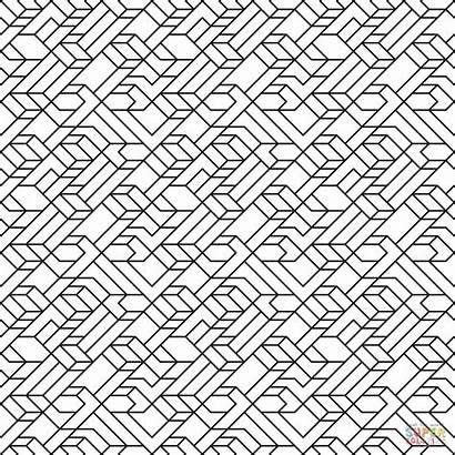 Line Coloring Pattern Tiled Pages V1 Lines