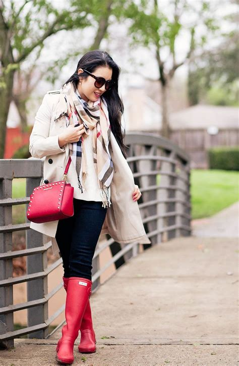 Trench Coat Rain Boots For Rainy Day Cute Little