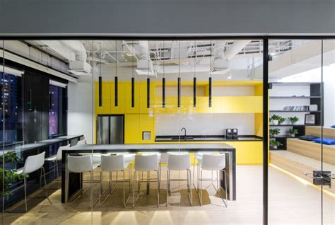 office kitchen design club med offices by 100architects shanghai china 1155
