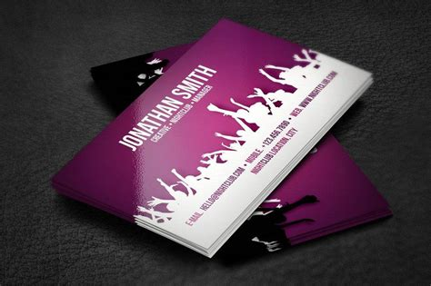 dj business card examples  pages psd ms word