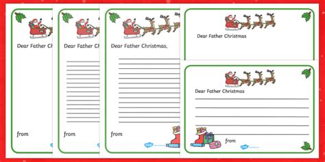 letter  father christmas writing template christmas